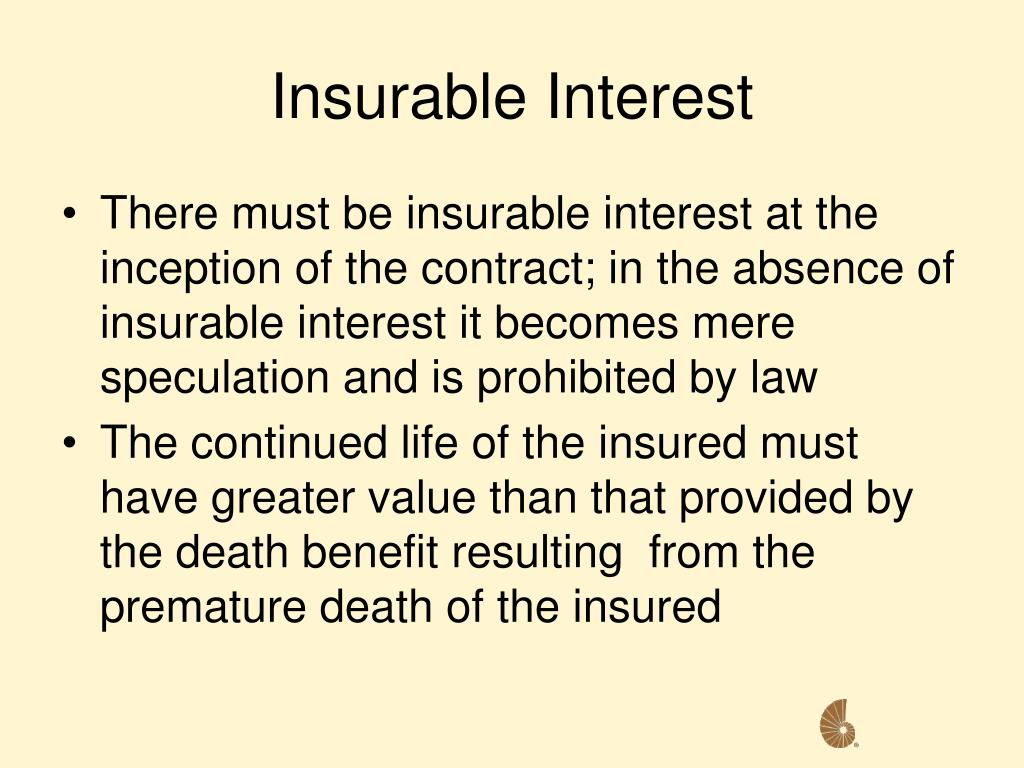 Insurable Interest