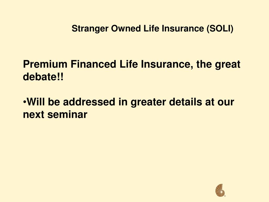Stranger Owned Life Insurance (SOLI)