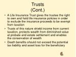 trusts cont