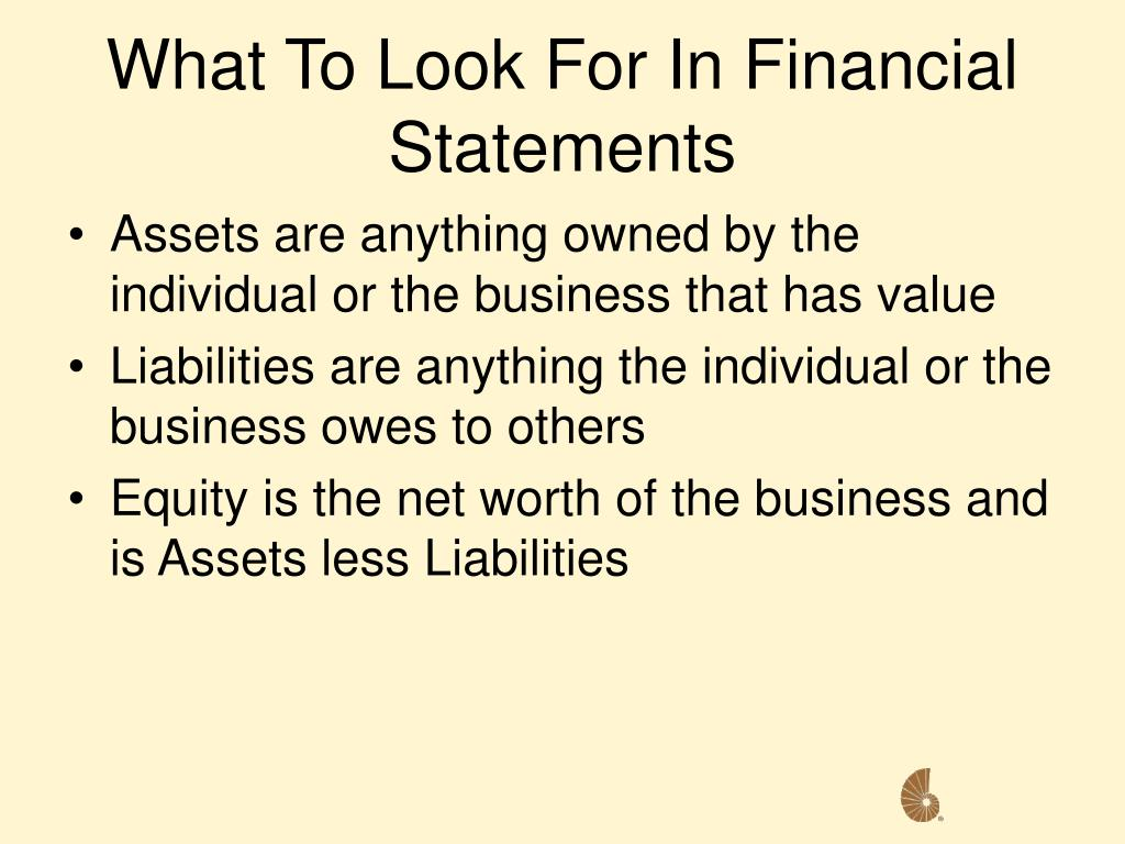 What To Look For In Financial Statements