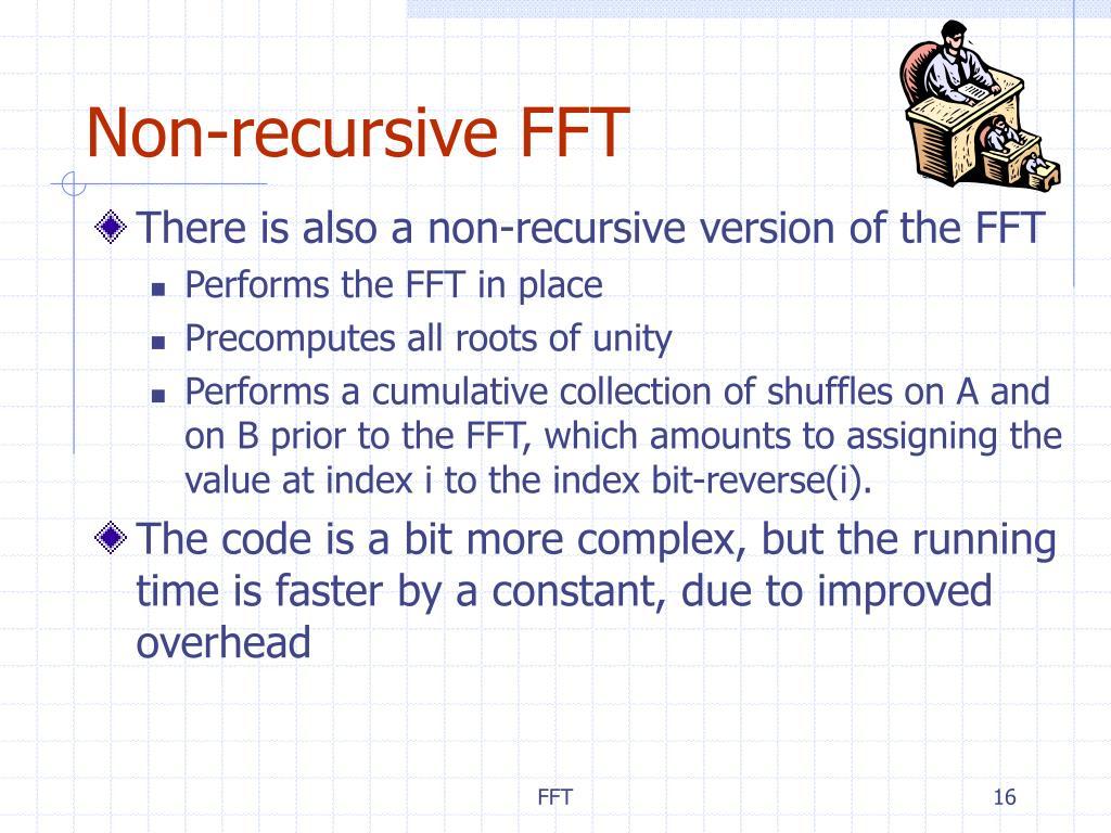 Non-recursive FFT