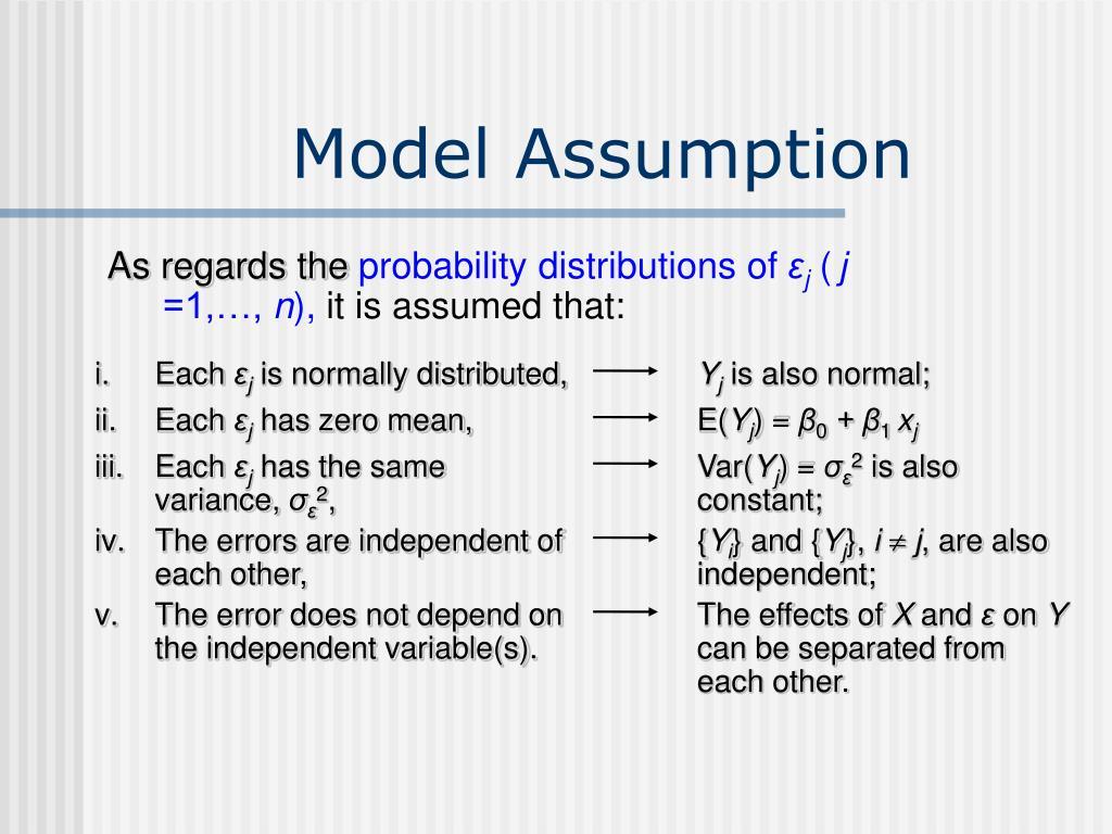 Model Assumption