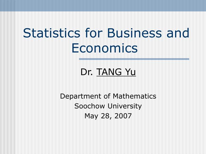Statistics for business and economics l.jpg