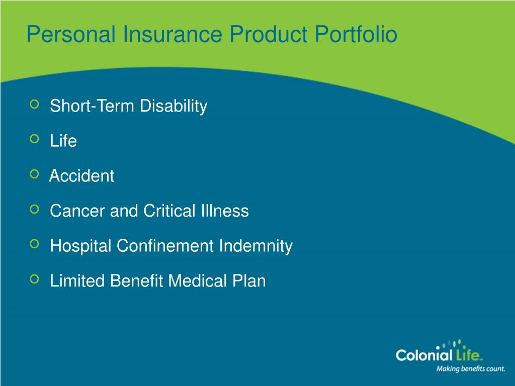 Personal Insurance Product Portfolio
