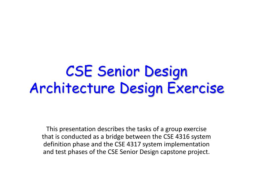 CSE Senior Design