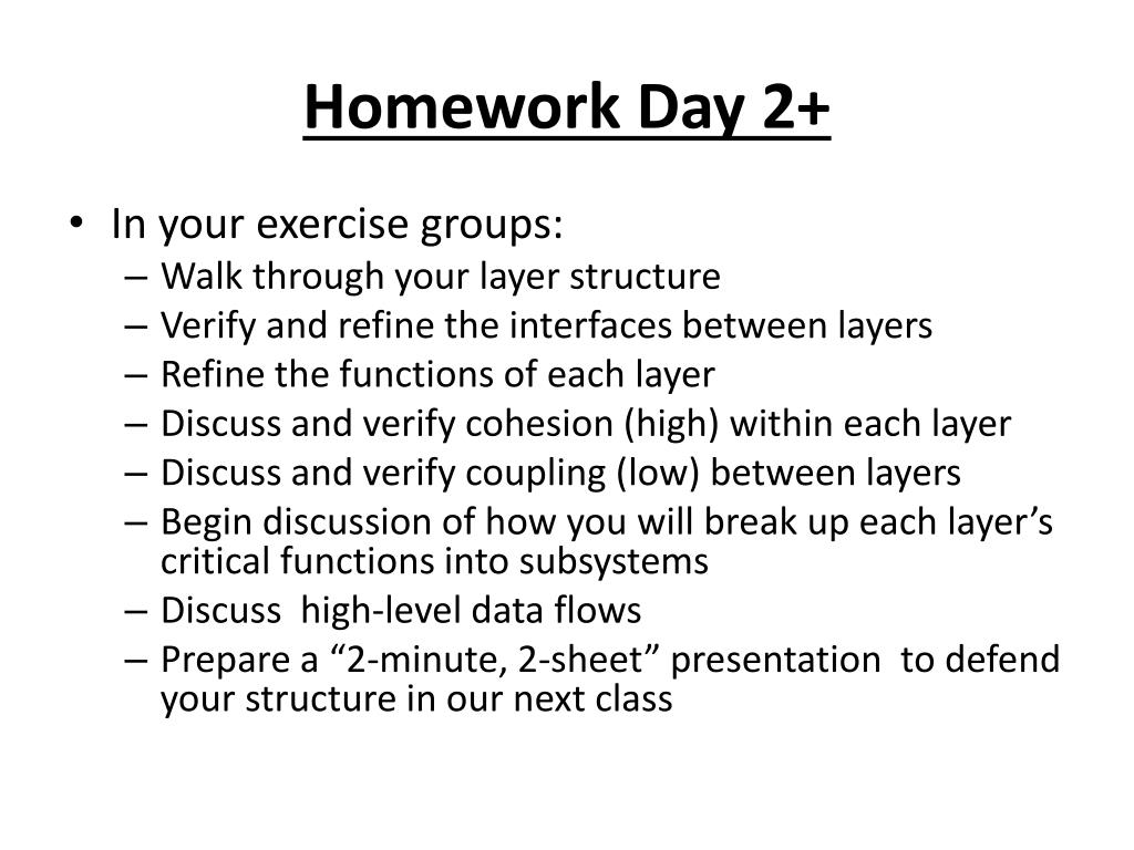 Homework Day 2+