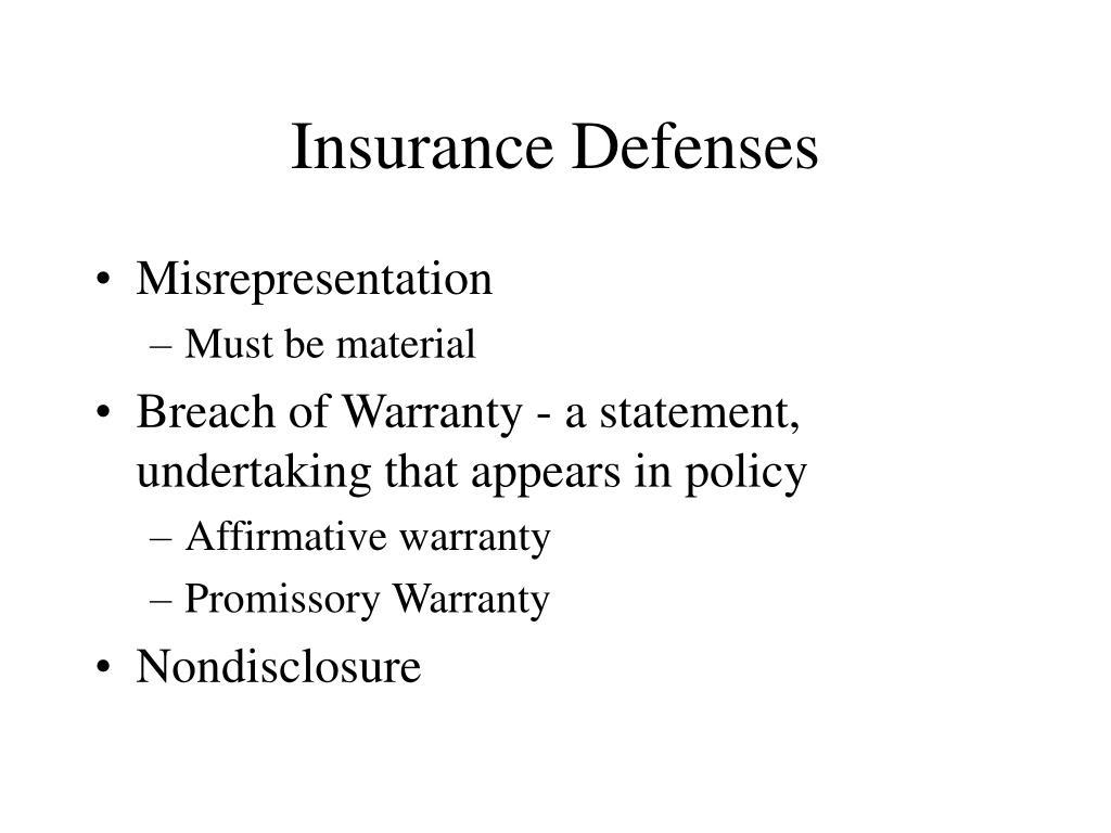 Insurance Defenses