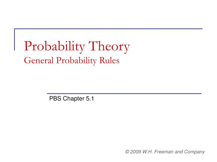 Probability theory general probability rules