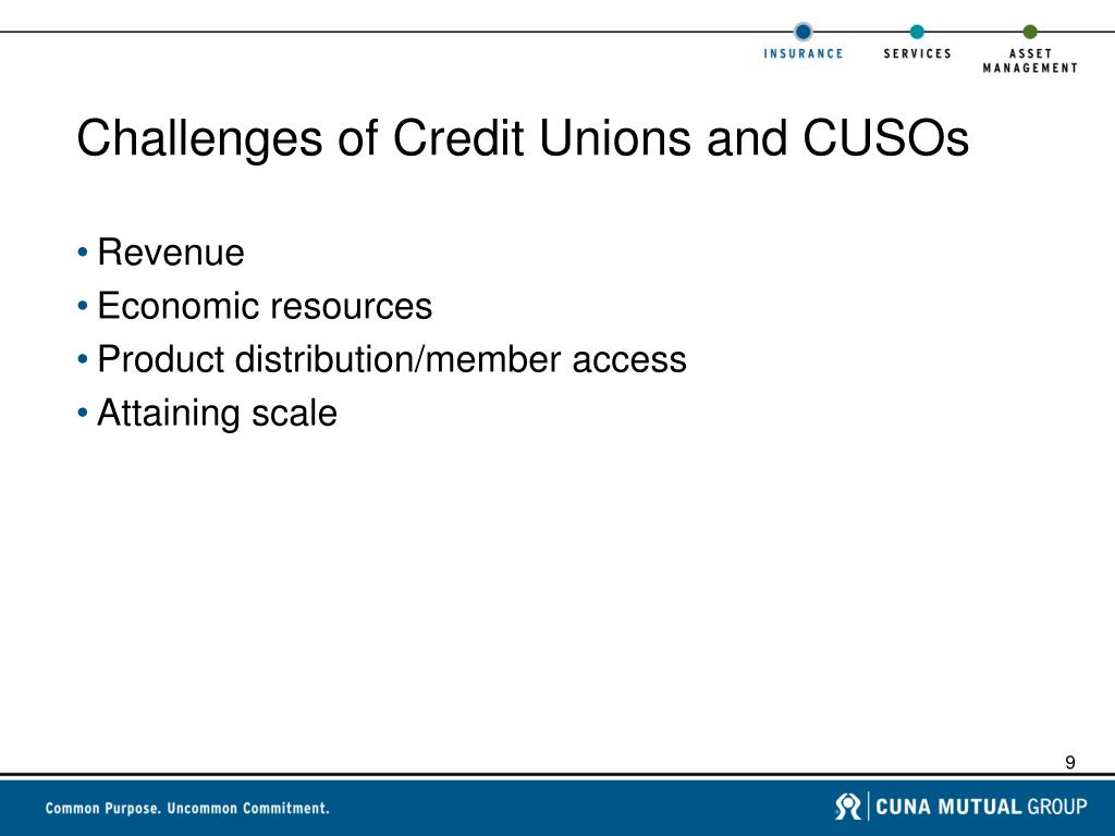 Challenges of Credit Unions and CUSOs