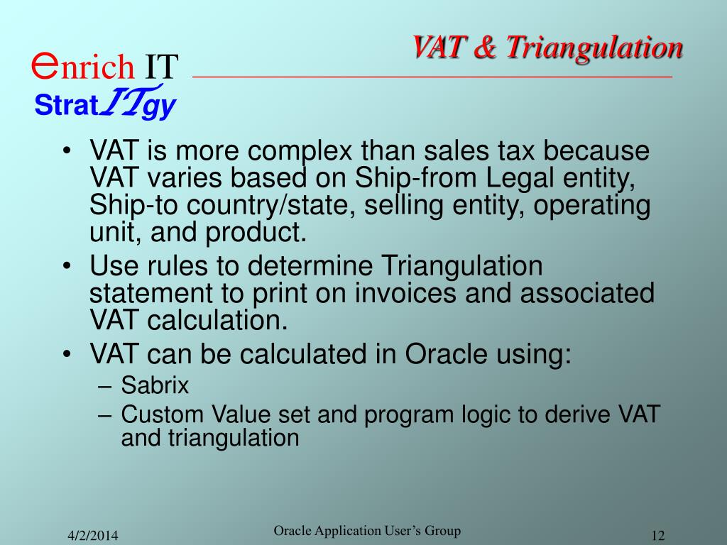 VAT & Triangulation