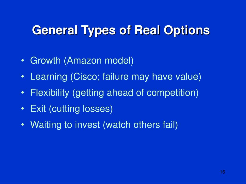 General Types of Real Options