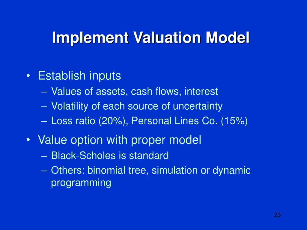 Implement Valuation Model
