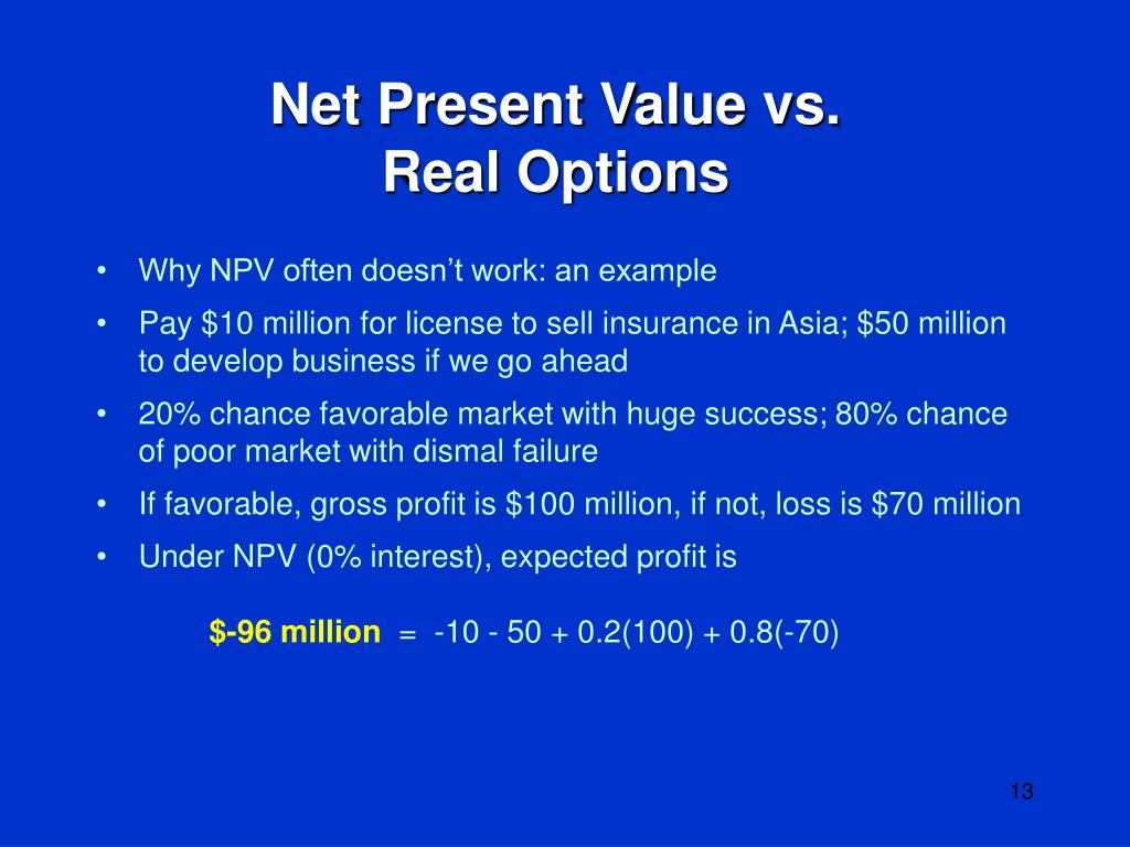 Net Present Value vs.