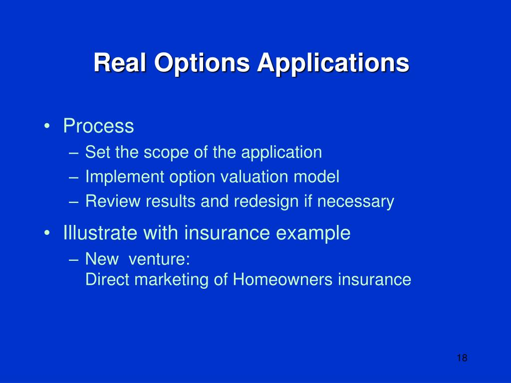 Real Options Applications