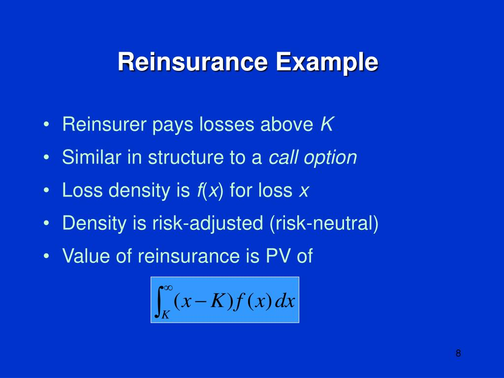 Reinsurance Example