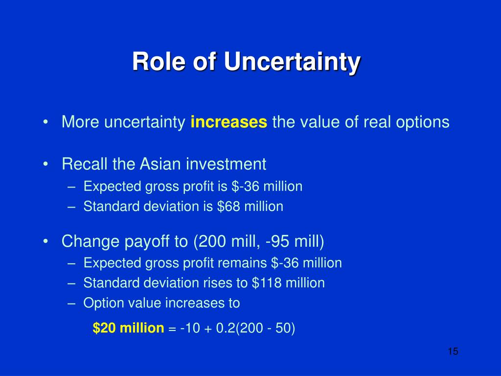 Role of Uncertainty