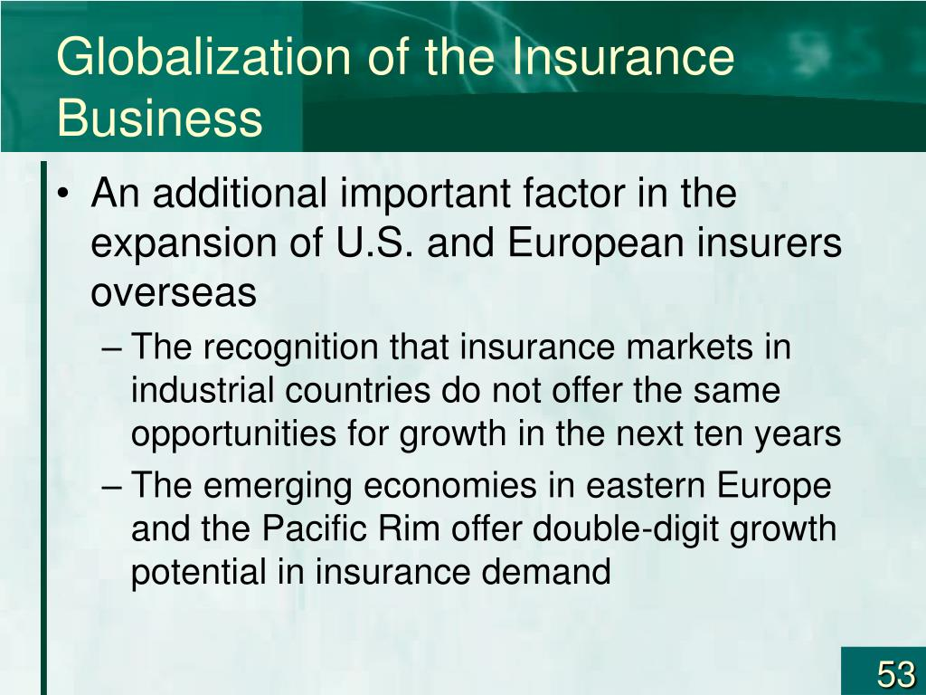 Globalization of the Insurance Business