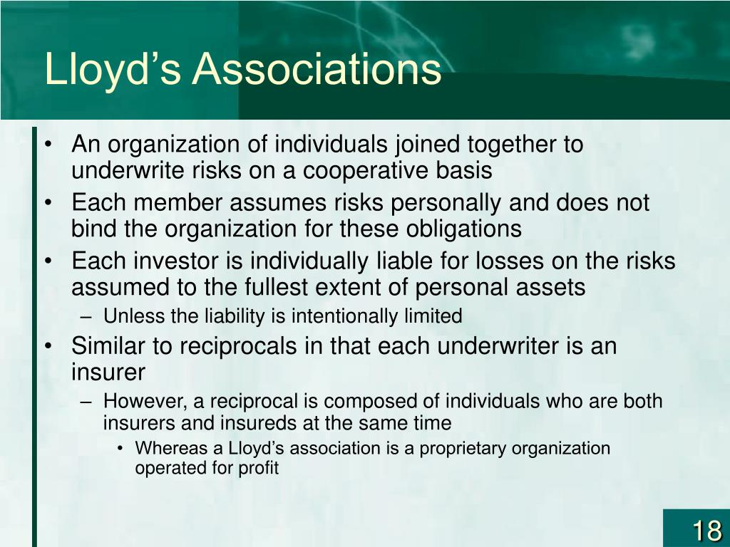 Lloyd's Associations