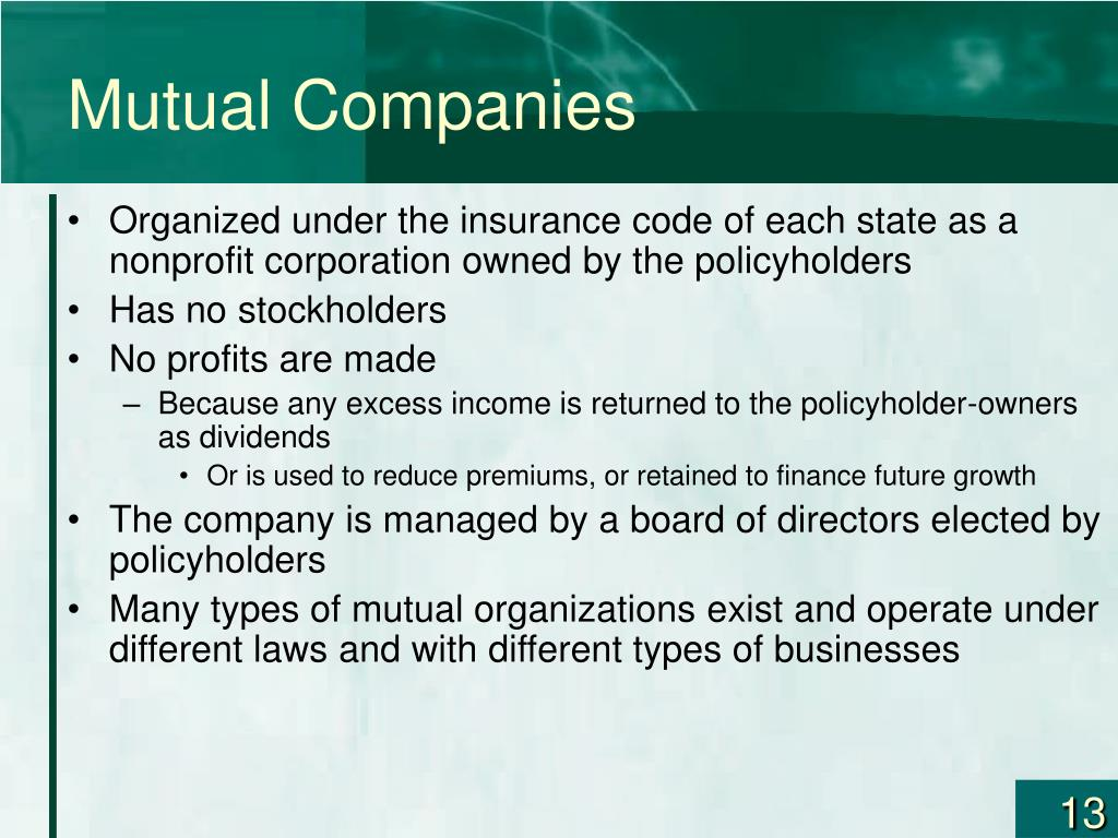 Mutual Companies