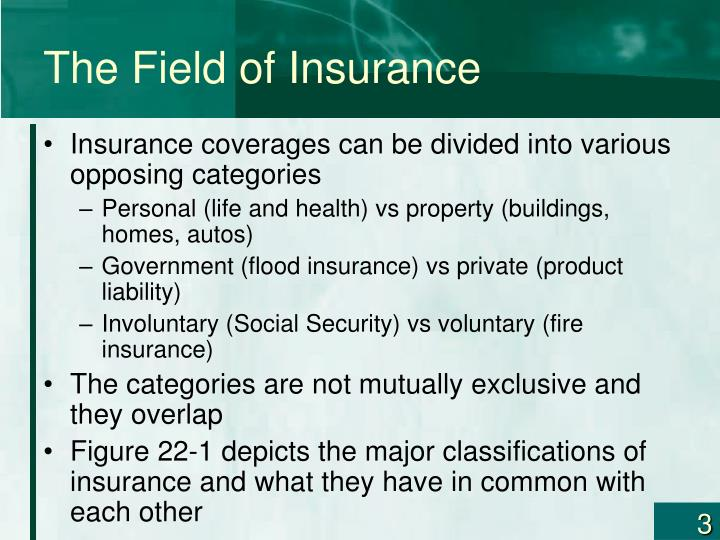 The field of insurance