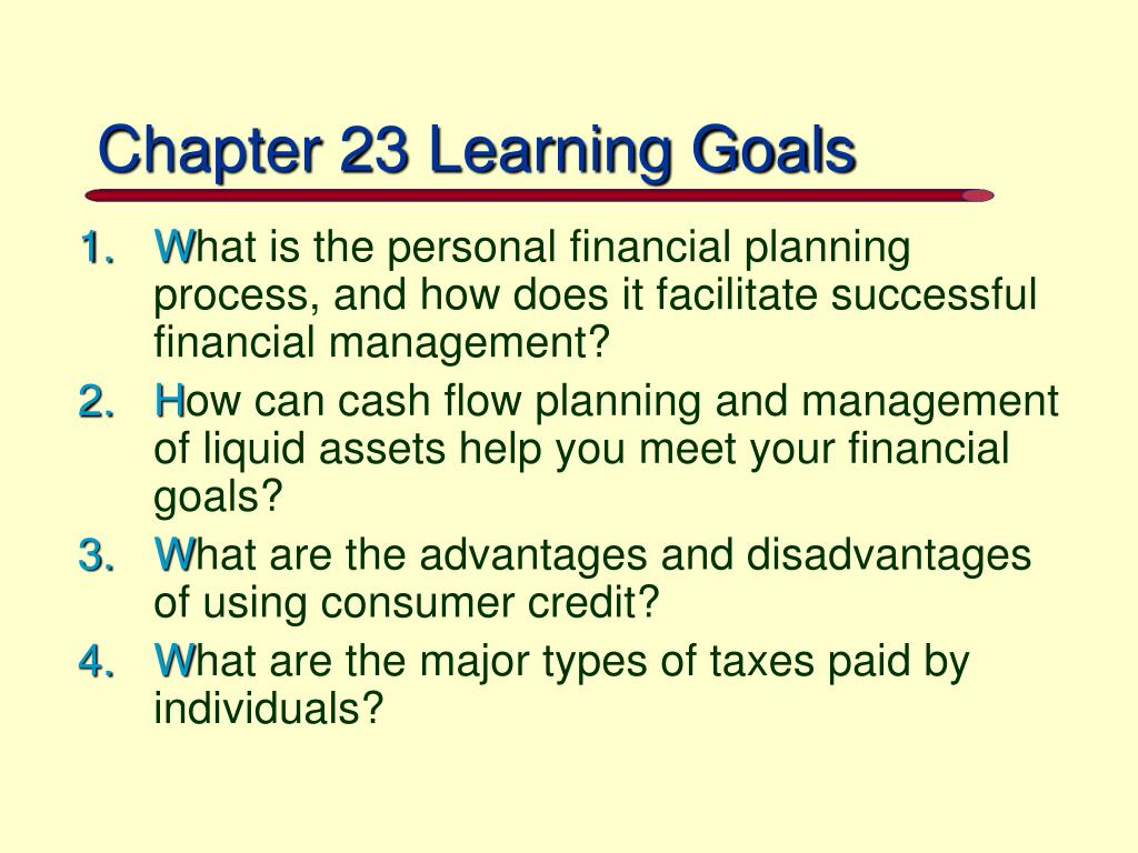 Chapter 23 Learning Goals