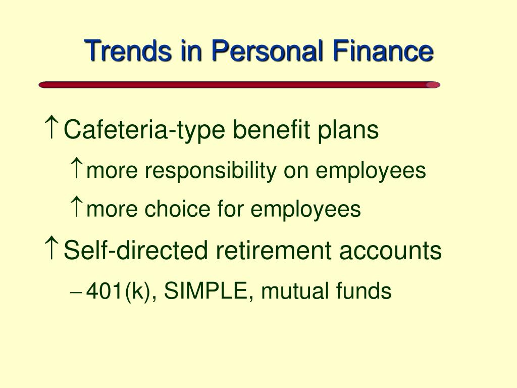 Trends in Personal Finance