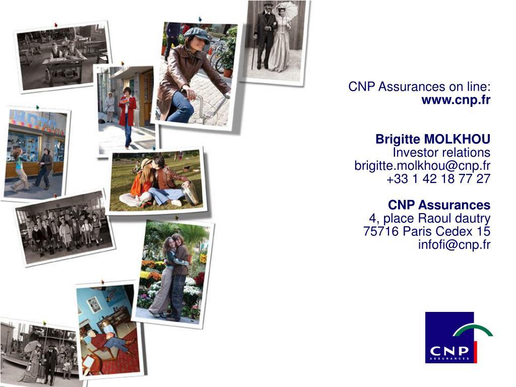 CNP Assurances on line: