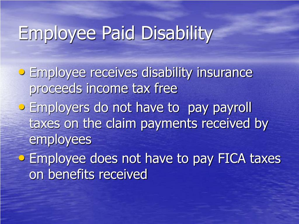 Employee Paid Disability