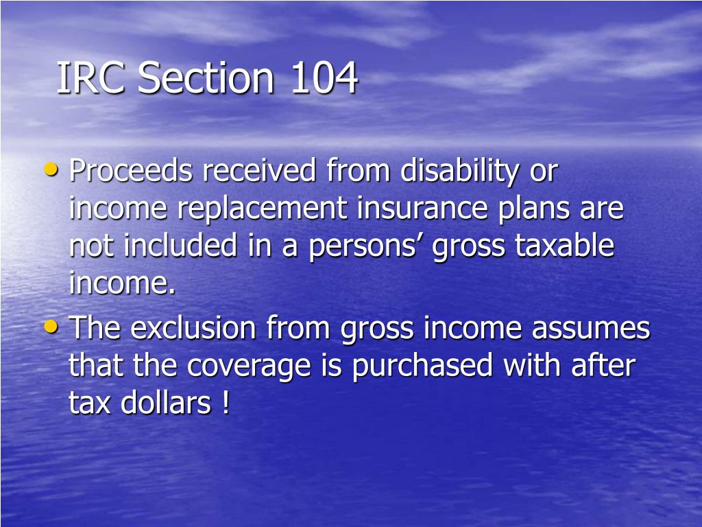 IRC Section 104