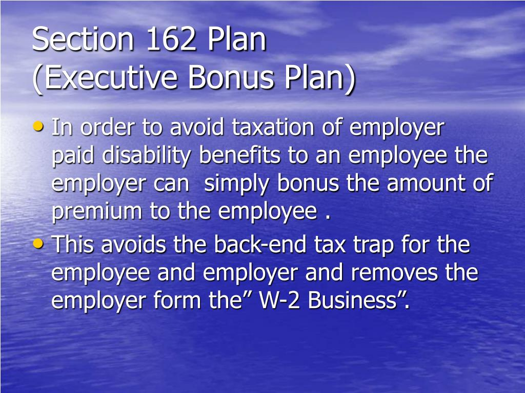 Section 162 Plan