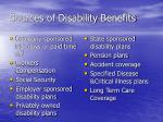 sources of disability benefits