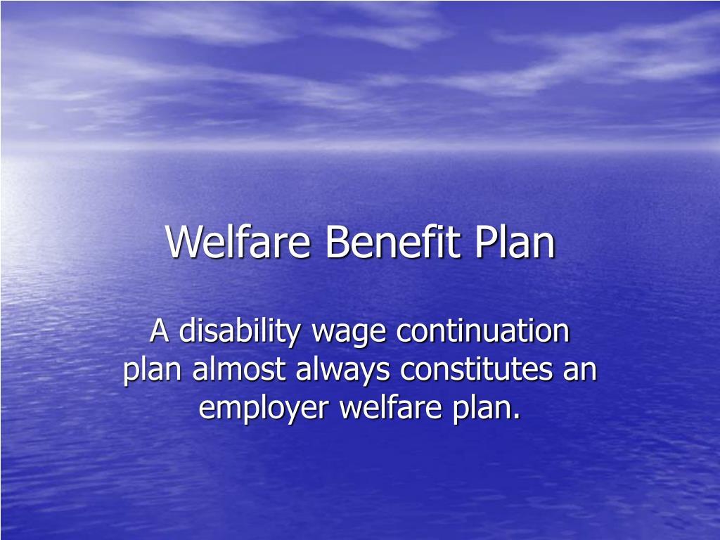 Welfare Benefit Plan