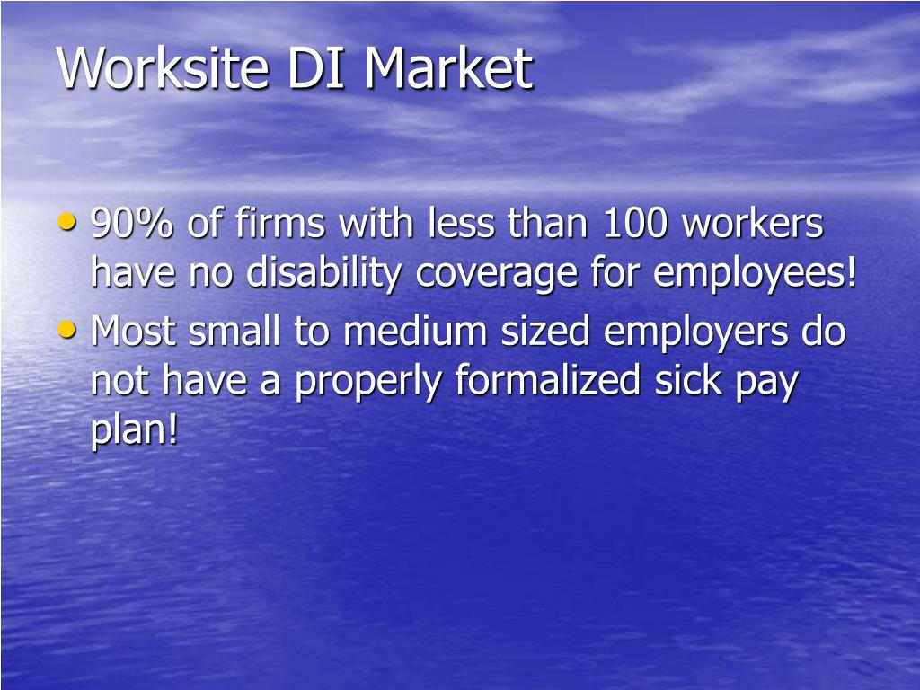 Worksite DI Market