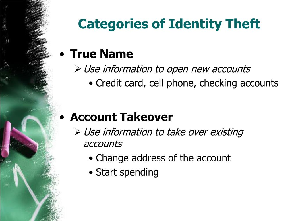Categories of Identity Theft