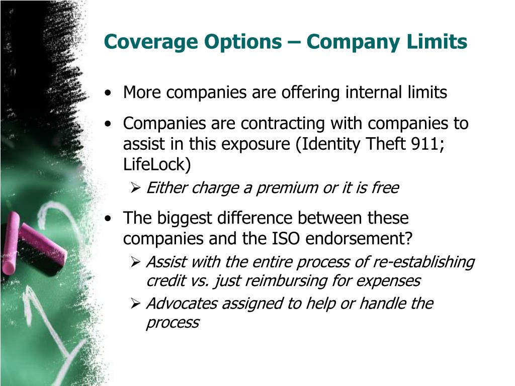 Coverage Options – Company Limits