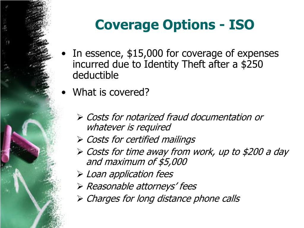 Coverage Options - ISO