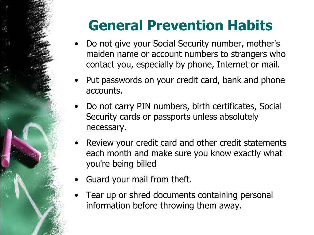 General Prevention Habits