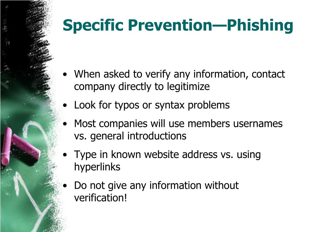 Specific Prevention—Phishing
