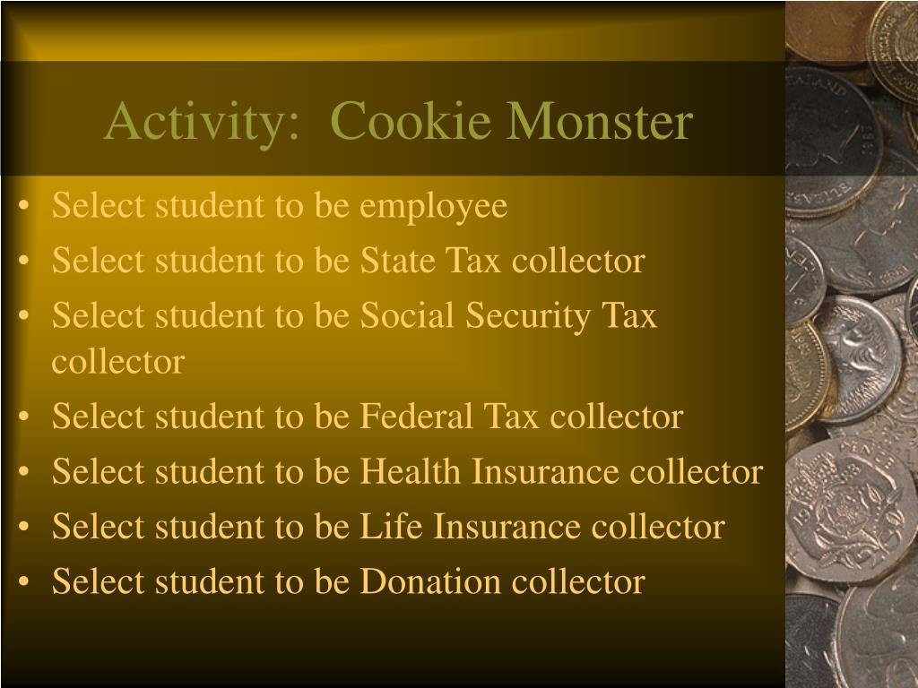 Activity:  Cookie Monster