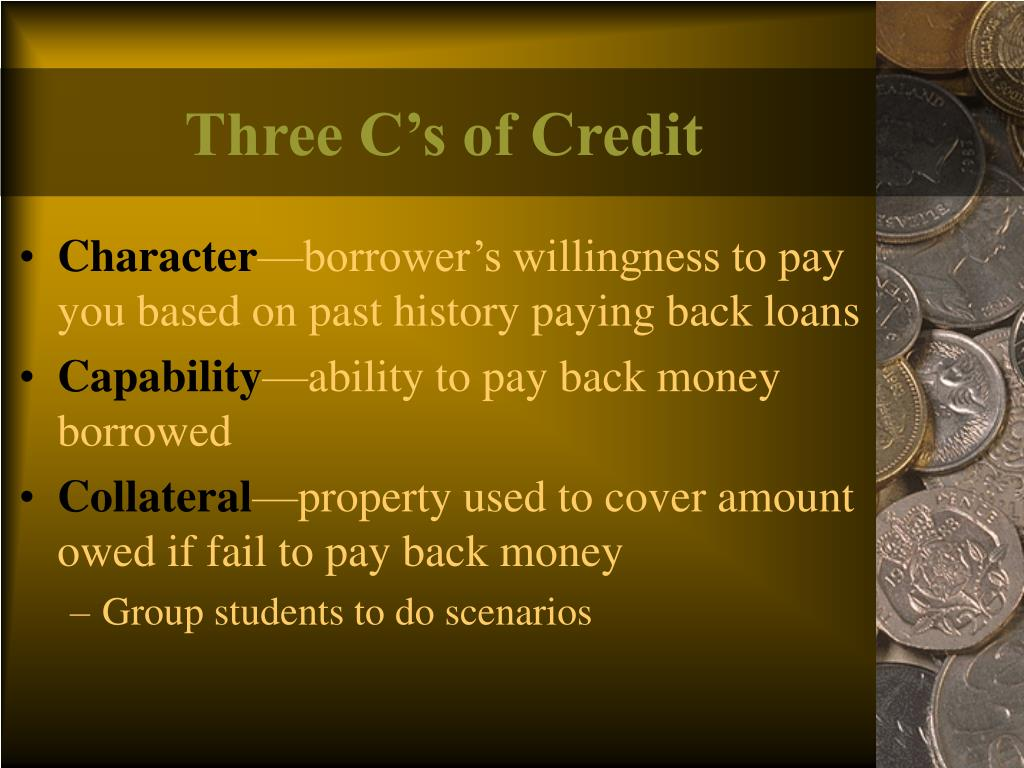 Three C's of Credit