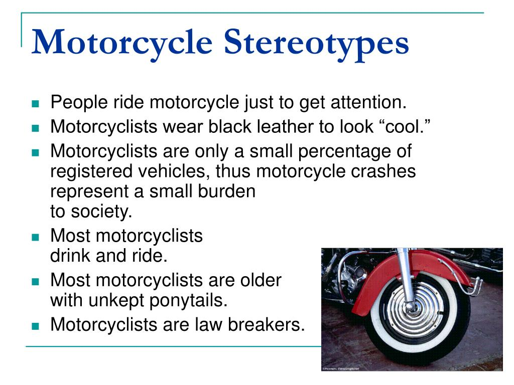 Motorcycle Stereotypes