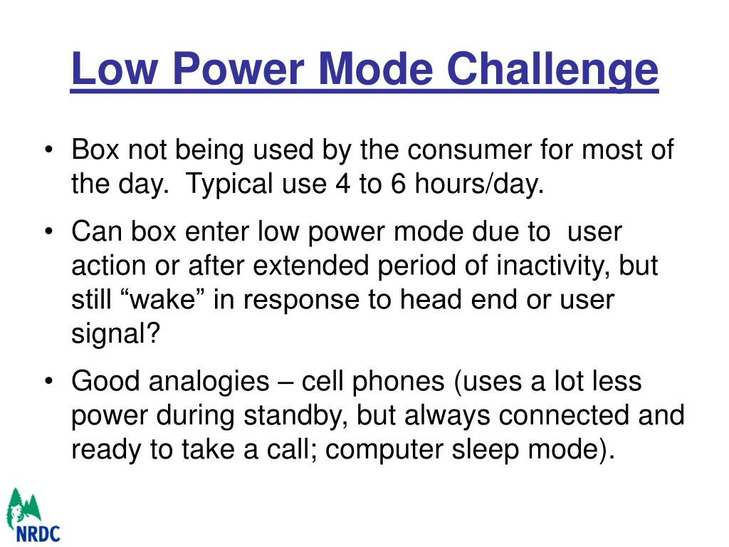 Low Power Mode Challenge