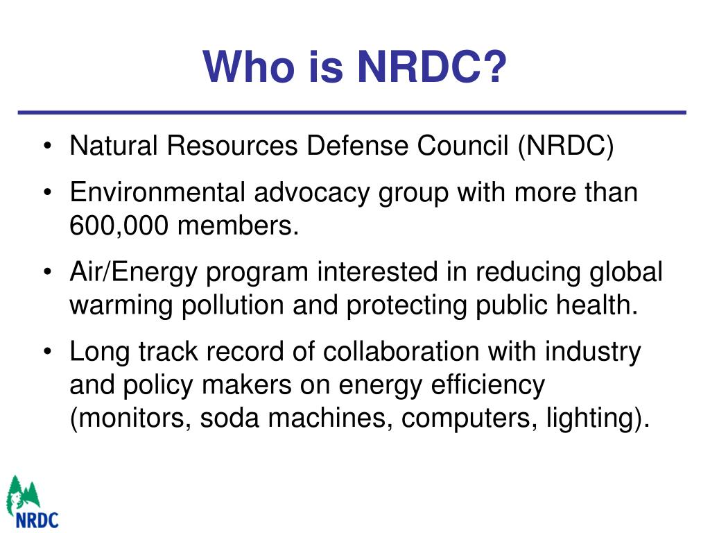 Who is NRDC?