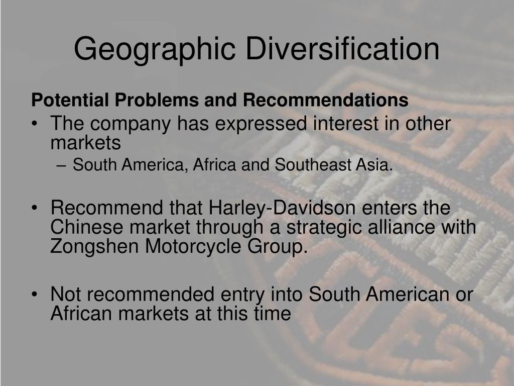 Geographic Diversification