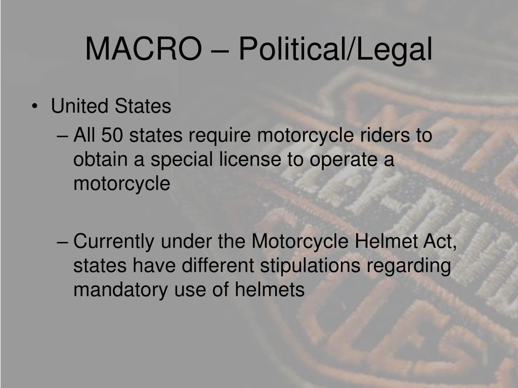 MACRO – Political/Legal