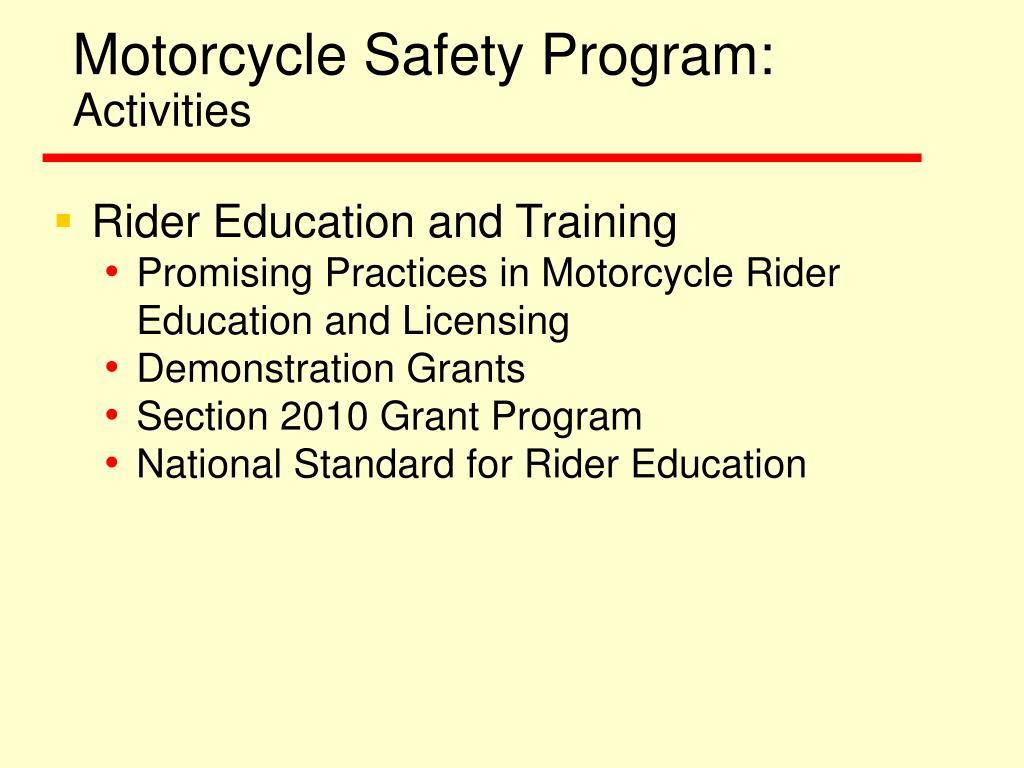 Motorcycle Safety Program: