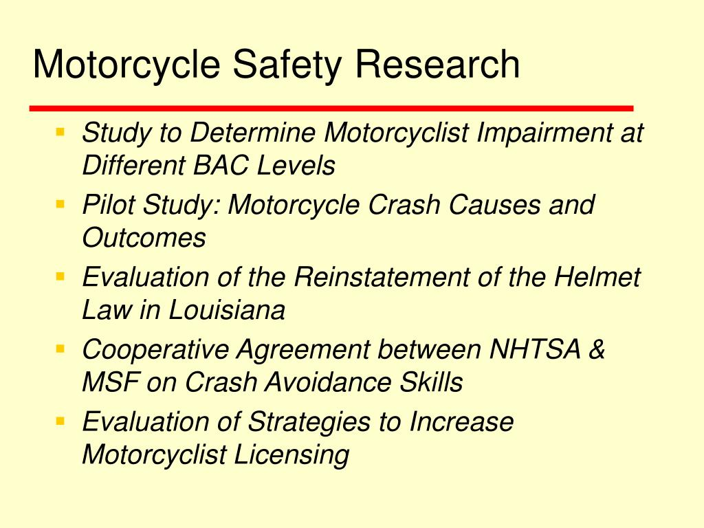 Motorcycle Safety Research