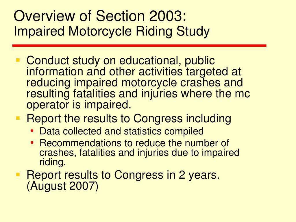 Overview of Section 2003: