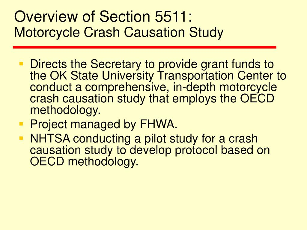 Overview of Section 5511:
