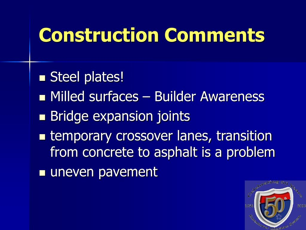 Construction Comments
